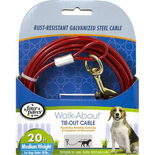 Four Paws Dog Tie Out Cable - Medium