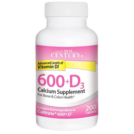 21st Century Calcium Plus D Supplement - 200ct