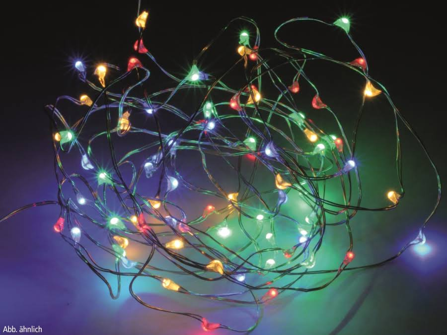Easygift Products Silver Wire, 80 Multicolour LED Lights (395cm)