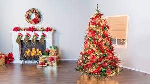 7ft Black Pencil Christmas Tree by How To Put Ribbon On A Christmas Tree Youtube