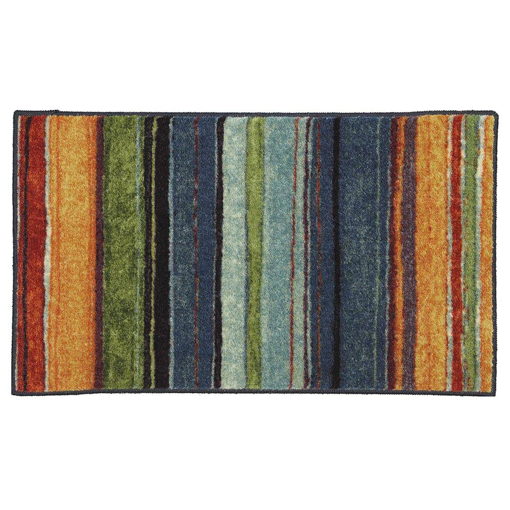 Mohawk Home Rainbow Striped Rug - 1ft 8in x 2ft 10in