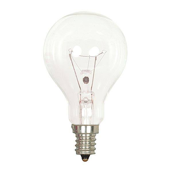 Satco Candelabra Base Incandescent Bulb - Clear, 60W, 2 Pack