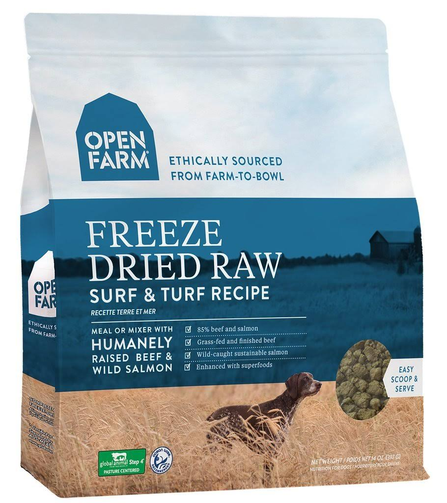 Open Farm Surf & Turf Freeze Dried Raw Dog Food 13.5 oz
