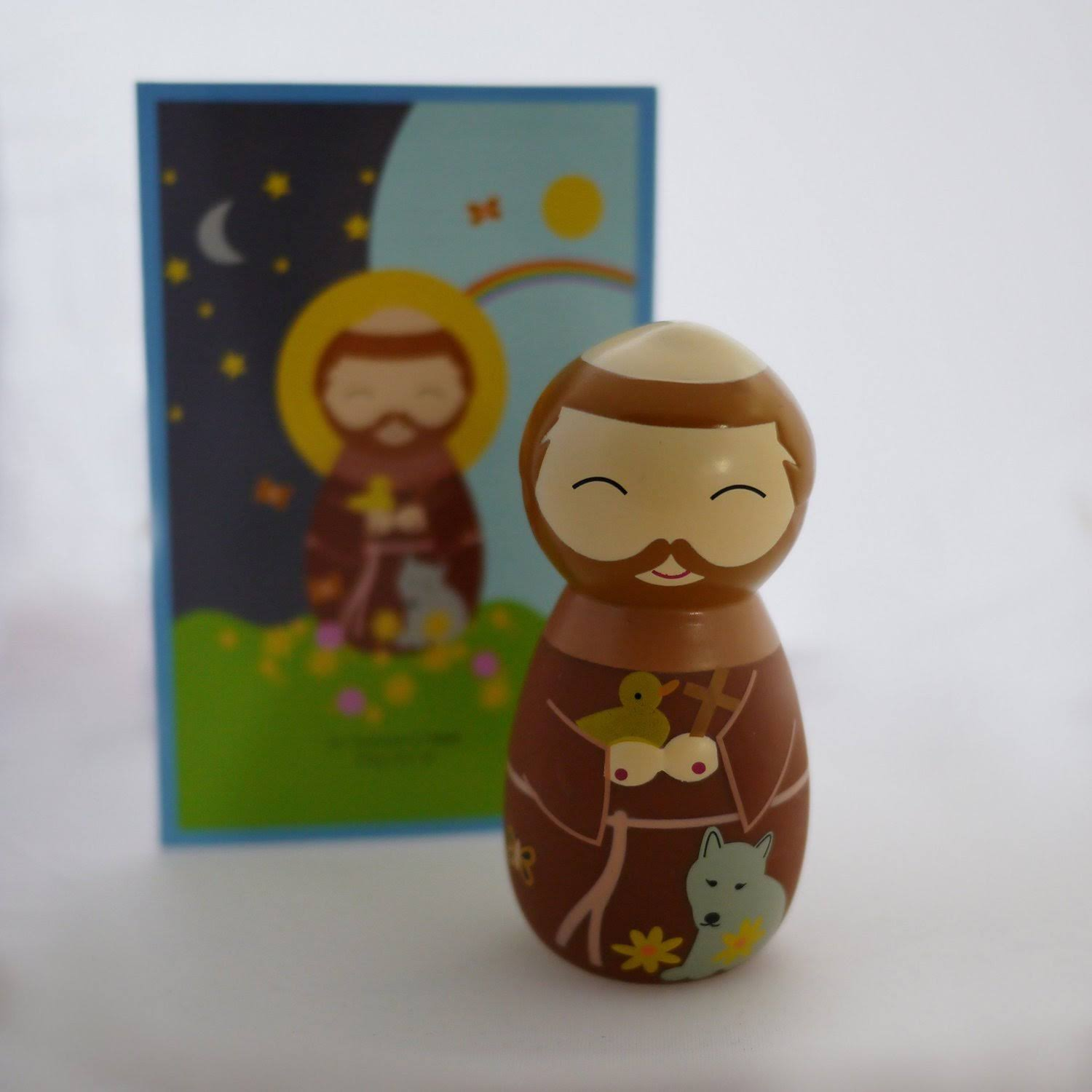 Shining Light Dolls Saint Francis of Assisi Collectible Vinyl Figure