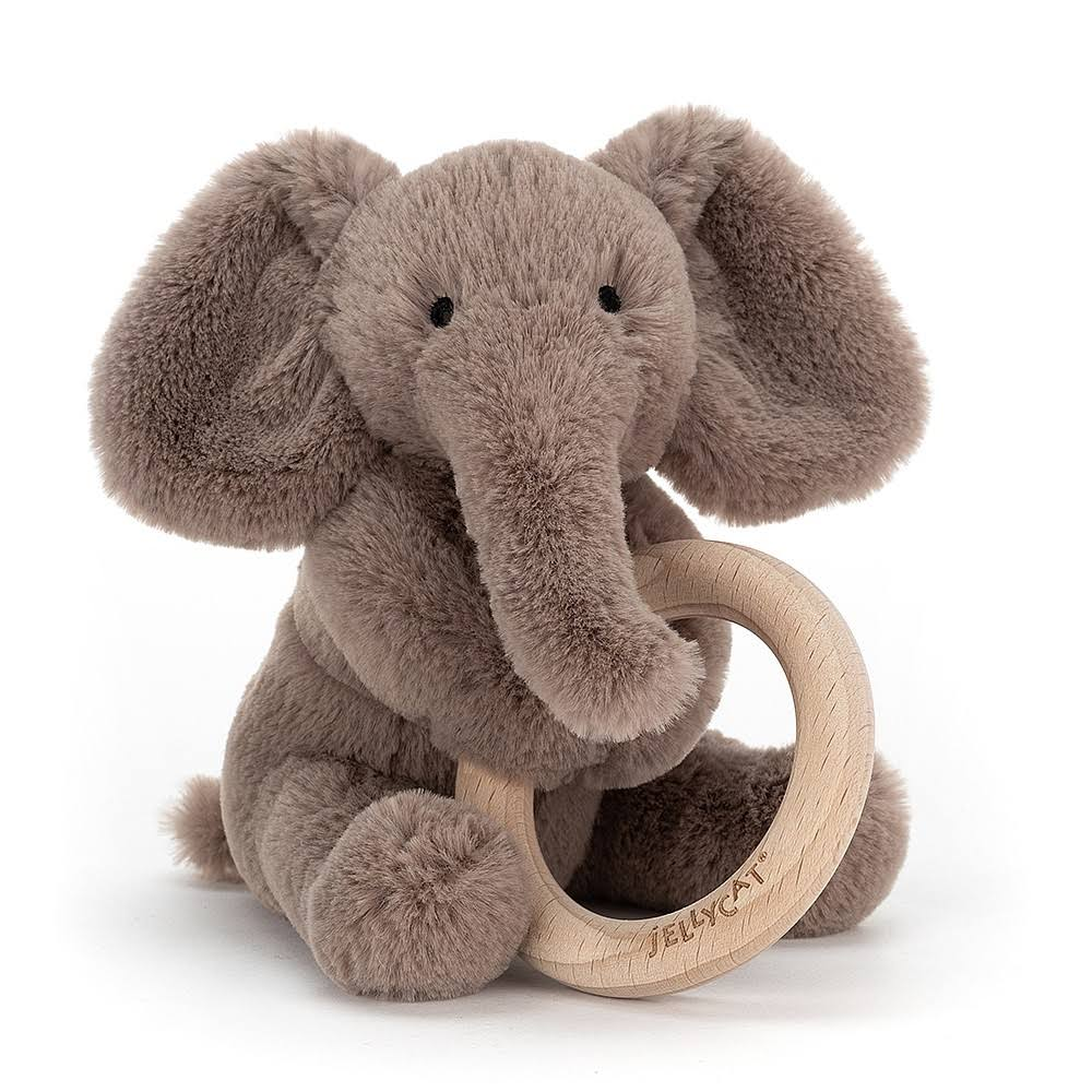 Jellycat - Shooshu Elephant Wooden Ring Toy