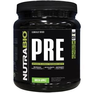NutraBio Pre Workout Powder - 502g, Fruit Punch