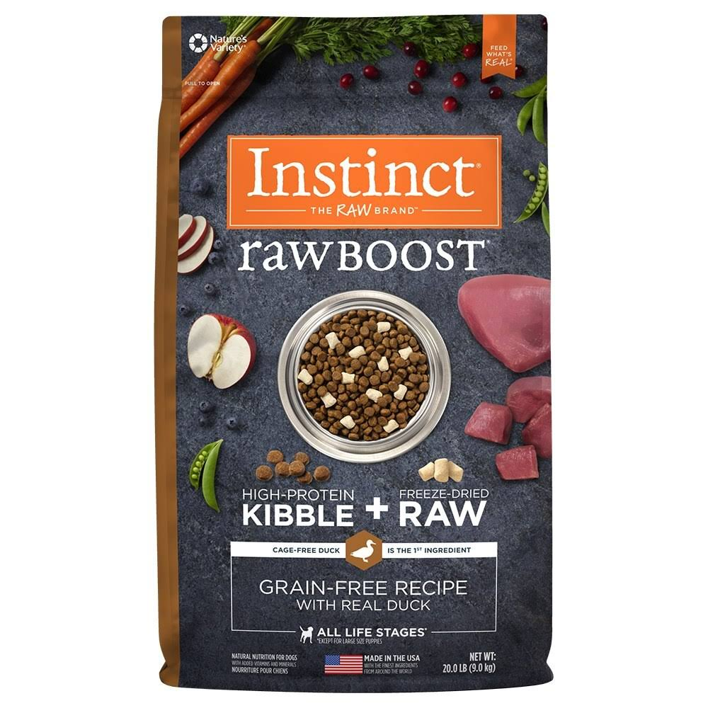 Nature's Variety Instinct Raw Boost Dog Food - Duck & Turkey Meal