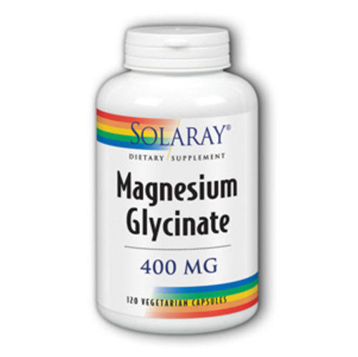 Solaray Magnesium Glycinate Supplement - 120 Vegetarian Capules