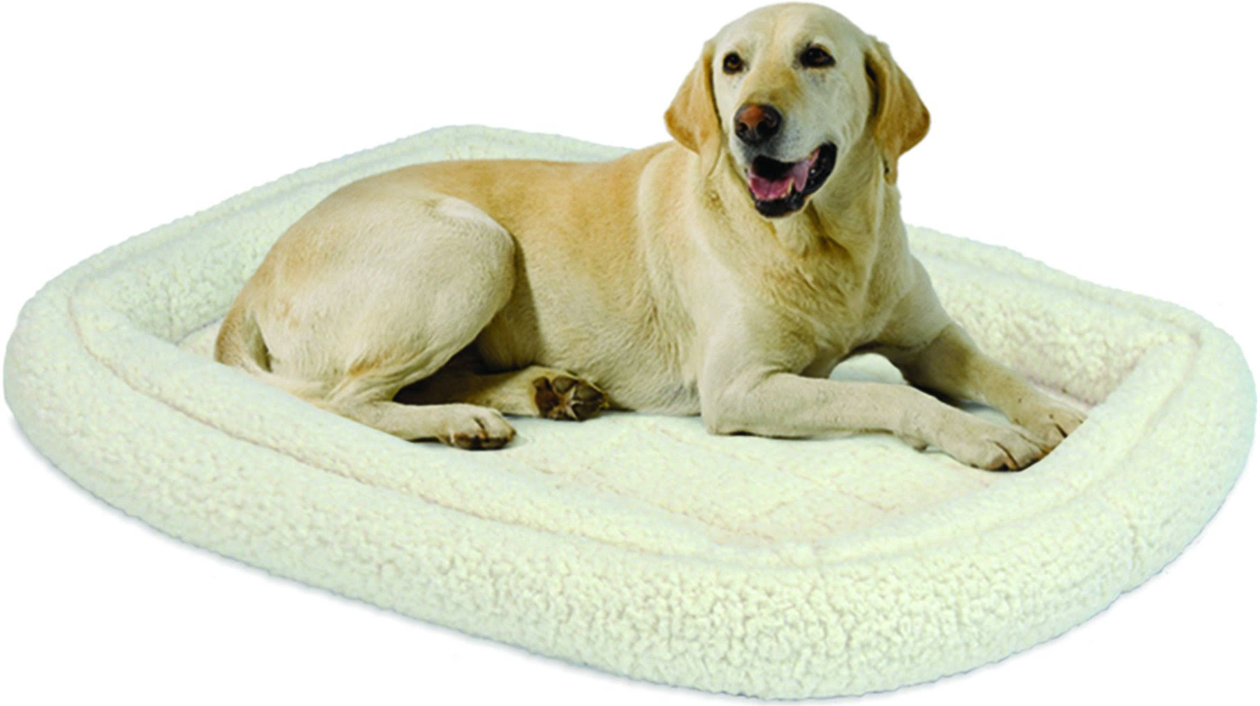 "Midwest Homes for Pets Double Bolster Bed - 42"", White"