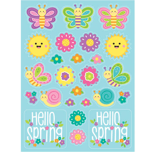 Hello Spring Stickers 48 ct