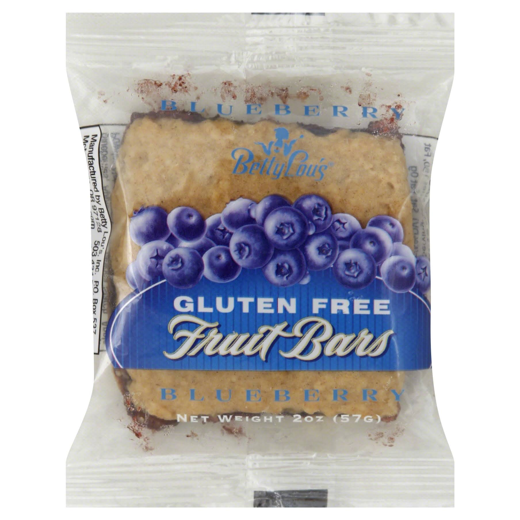 Betty Lou's Gluten Free Fruit Bars - Blueberry, 2oz