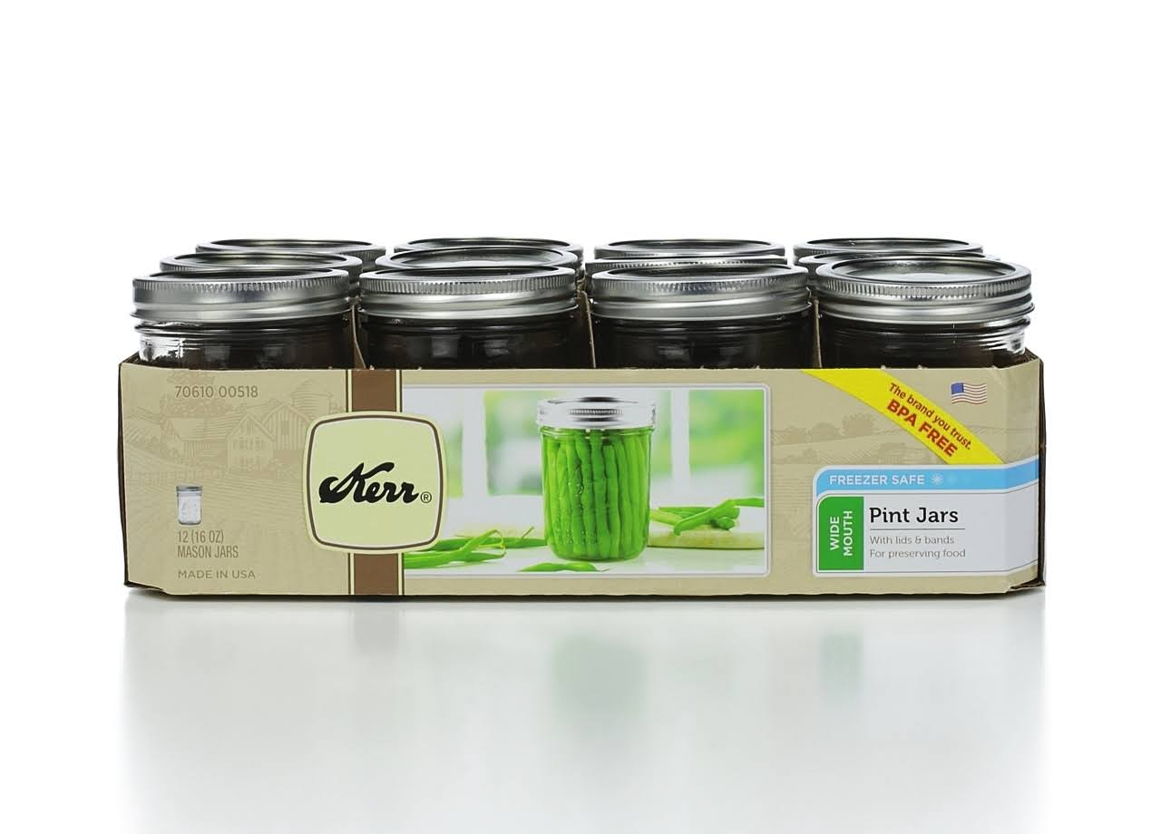 Jarden Brands Kerr Jar Wide Mouth - 12pcs, 16oz