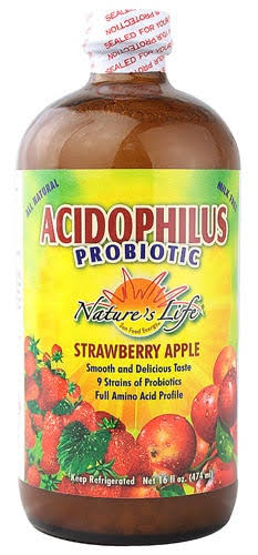 Nature's Life Acidophilus Probiotic Supplement - Strawberry Apple, 16oz