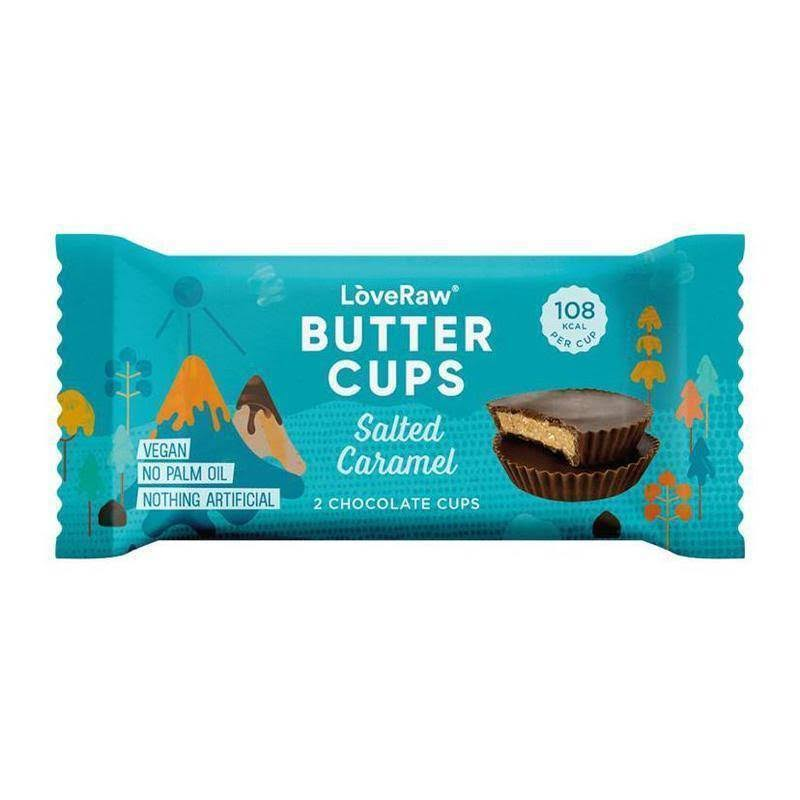 LòveRaw Salted Caramel Chocolate Butter Cups - 34g, 2ct