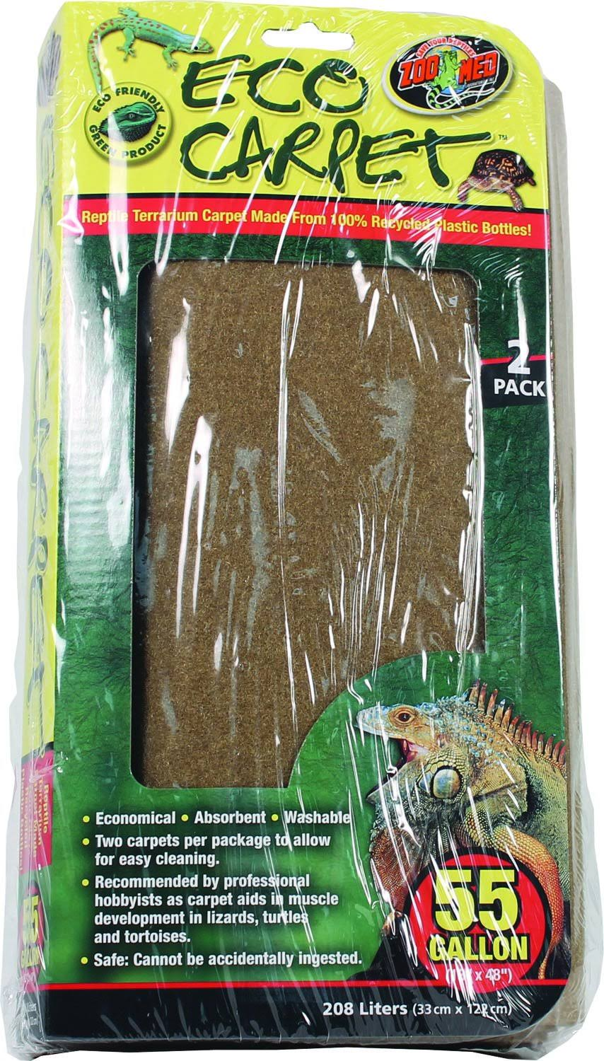 "Zoo Med Reptile Cage Carpet - for 55 Gallon Tanks, 48"" X 13"""