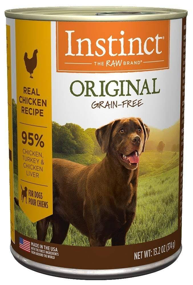 Nature's Variety Grain-Free Instinct Canned Dog Food, Chicken / 13.2 oz Case 6
