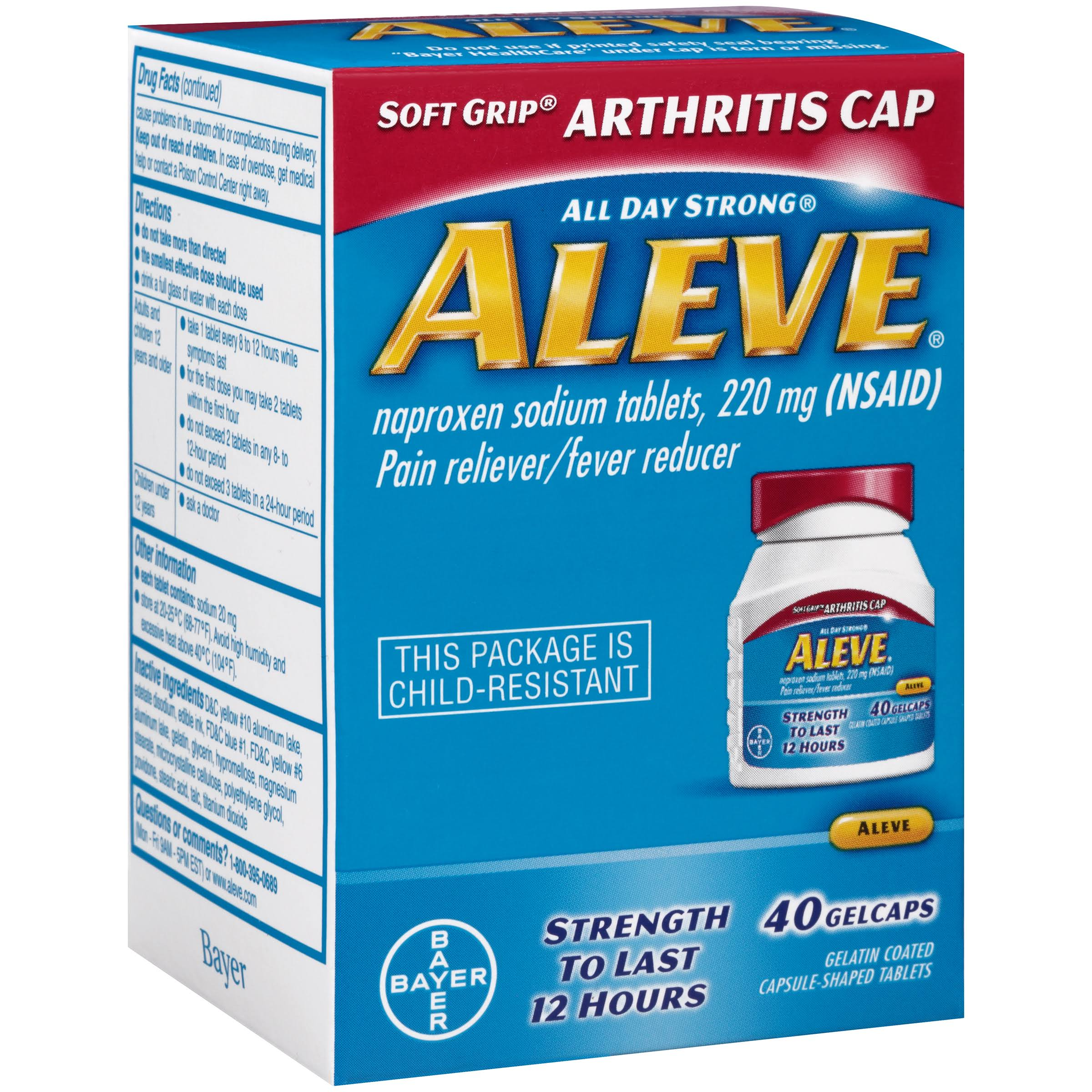 Aleve Naproxen Sodium Tablets - 220mg, 40 Gel Caps