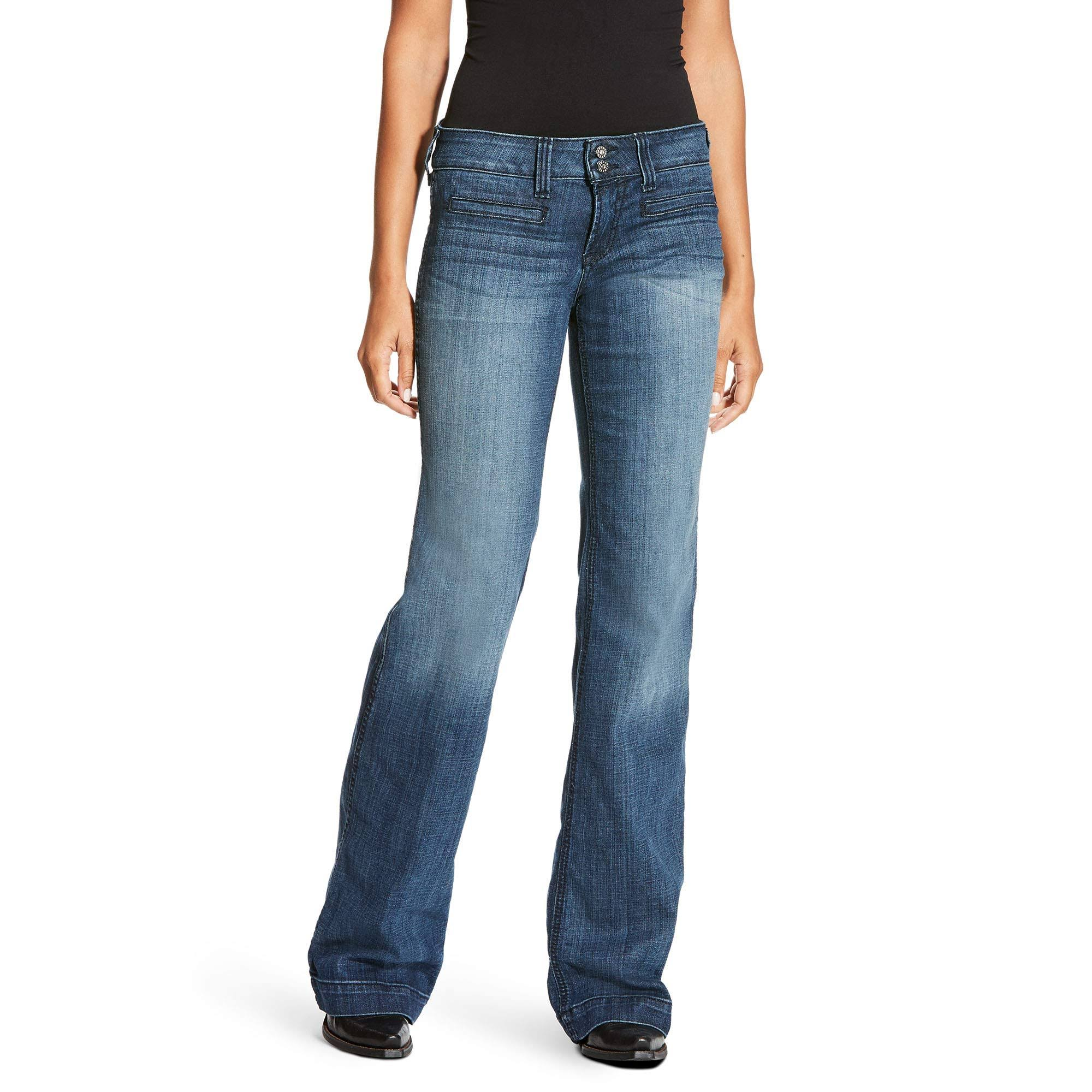 Ariat Trouser Mid Rise Ella Jeans - Bluebell, Size 29
