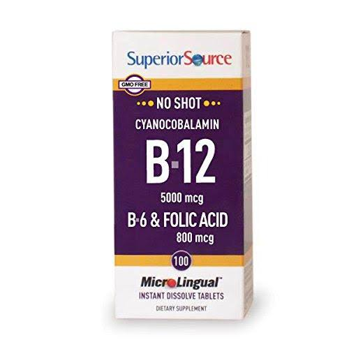 Superior Source No Shot B12 Multivitamins Supplement - 5000mcg,100 Tablet