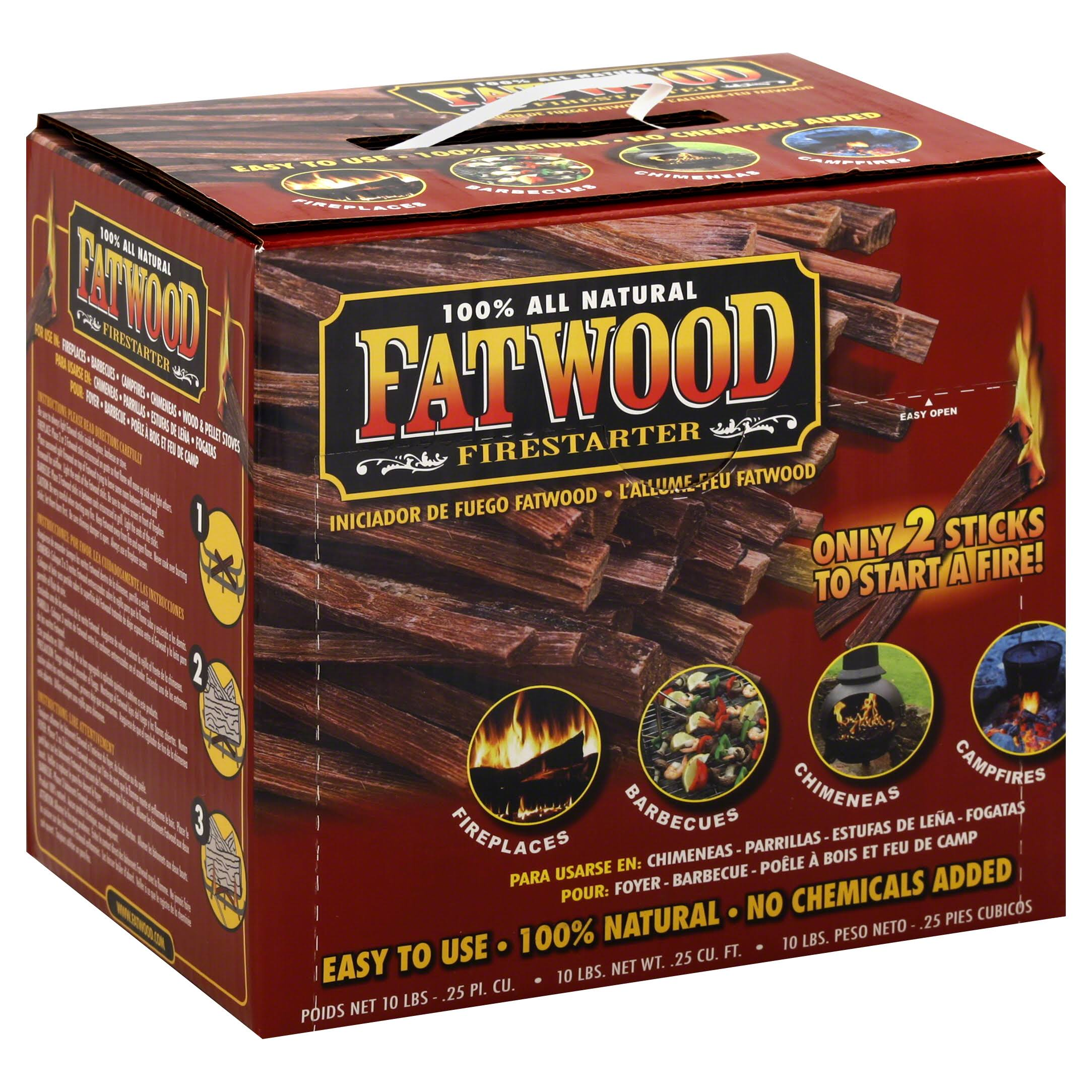 Wood Products Fatwood Firestarter - .25 CUFT, 10lbs
