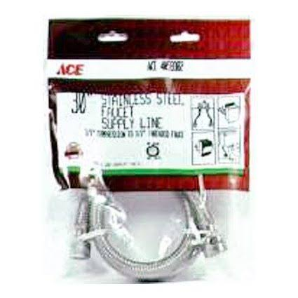 Ace Faucet Connector, Stainless Steel Braided