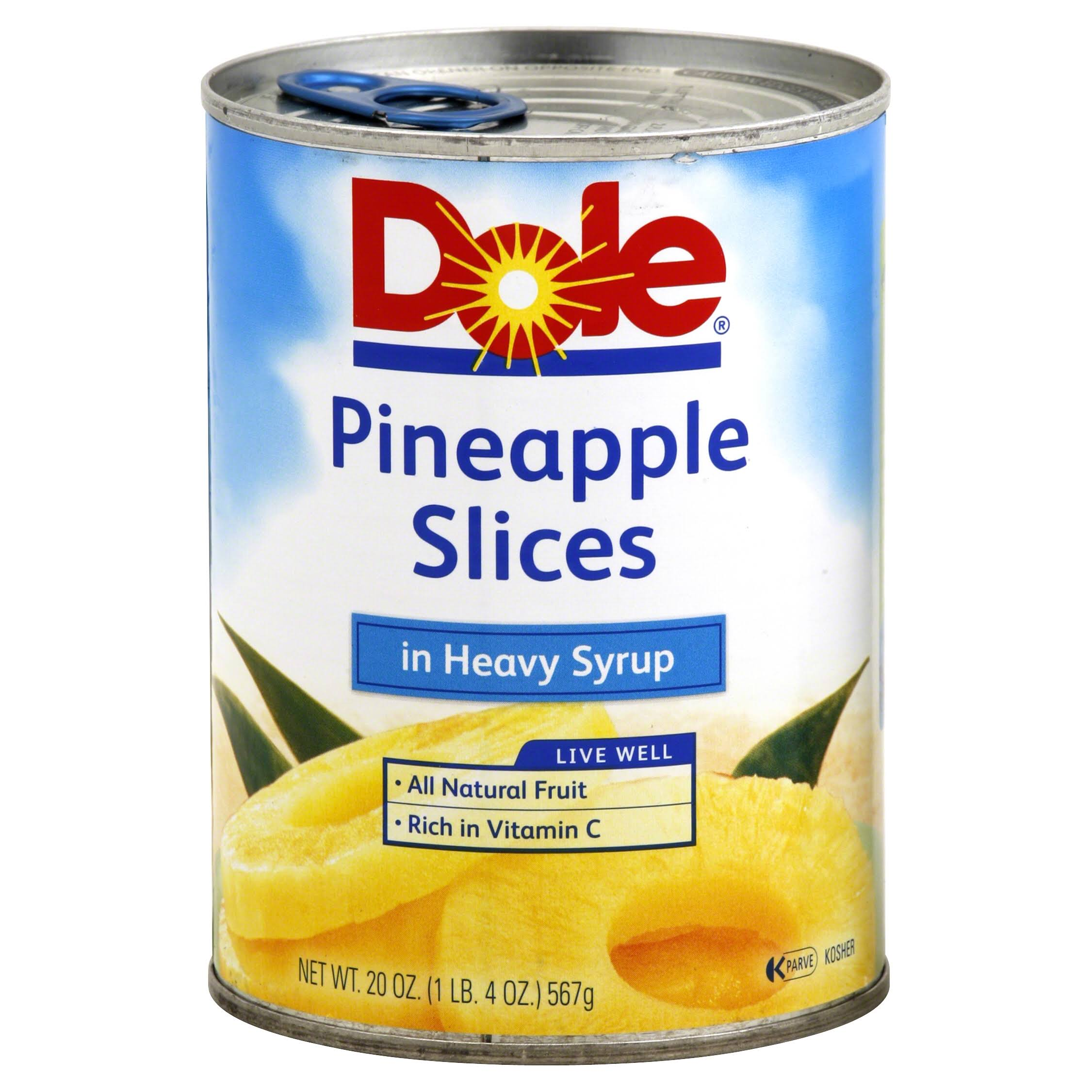 Dole Pineapple Slices - Heavy Syrup, 20oz