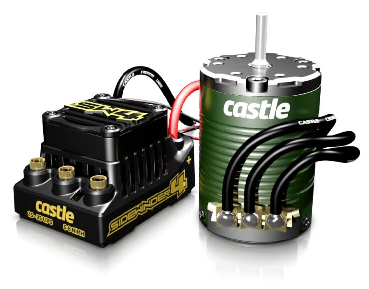 P-CC010-0164-05 Castle Creations Sidewinder 4, 2-3S, WP ESC with 1410-3800Kv Motor