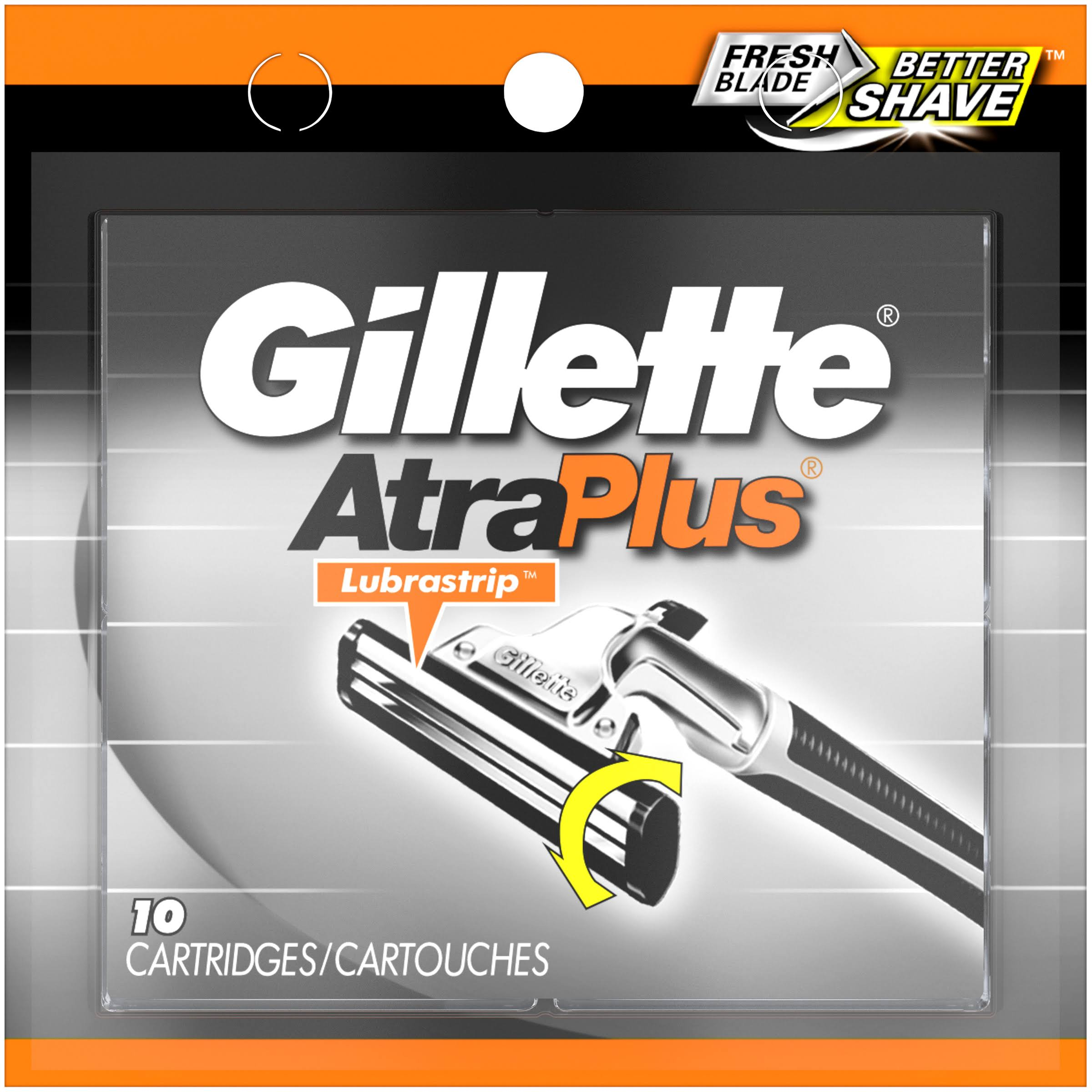 Gillette AtraPlus Cartridges - 10pk