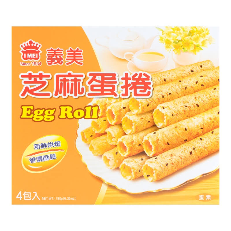 I Mei Sesame Egg Roll - 6.3 oz box