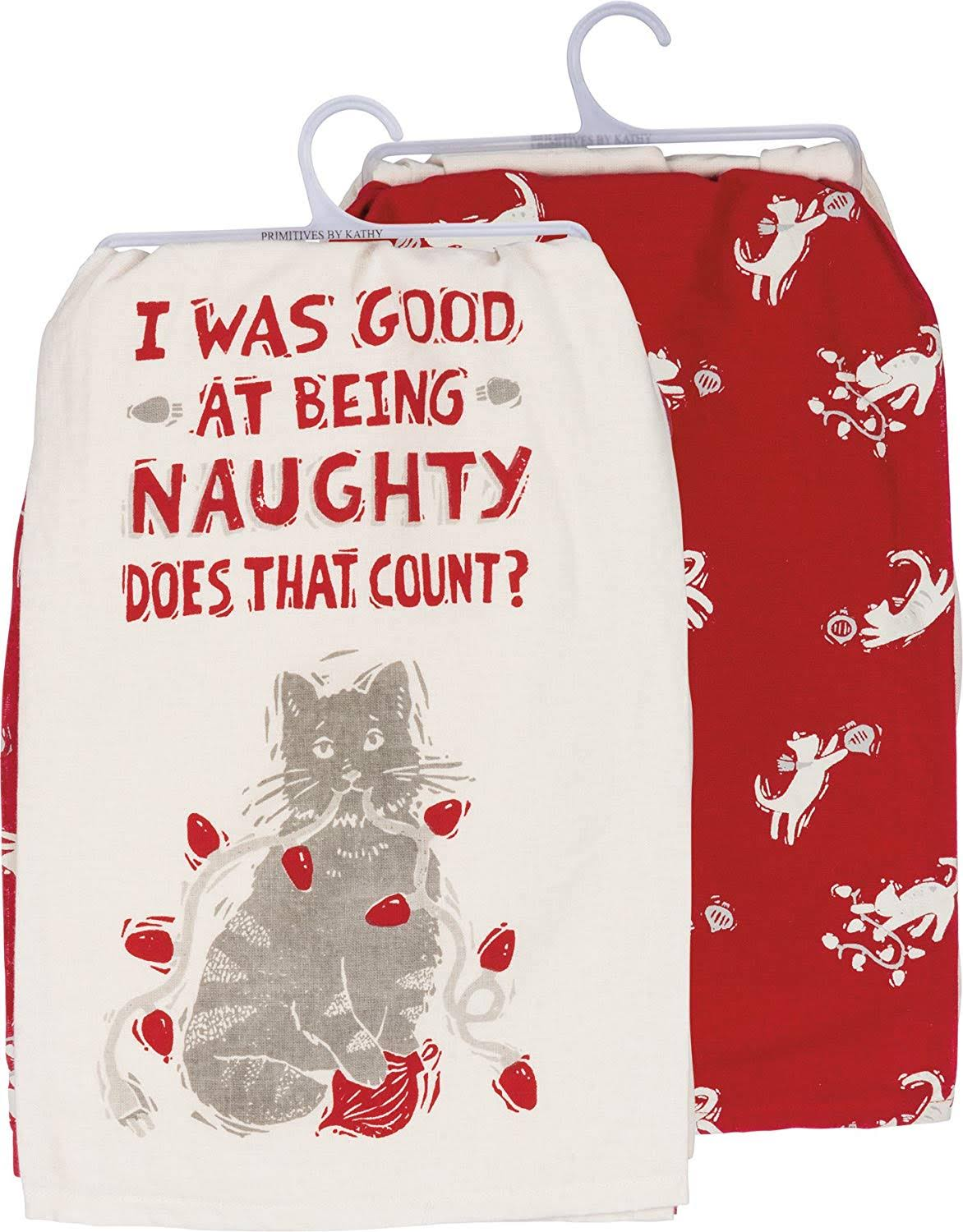 Primitives by Kathy Dish Towel Set - Naughty Cat