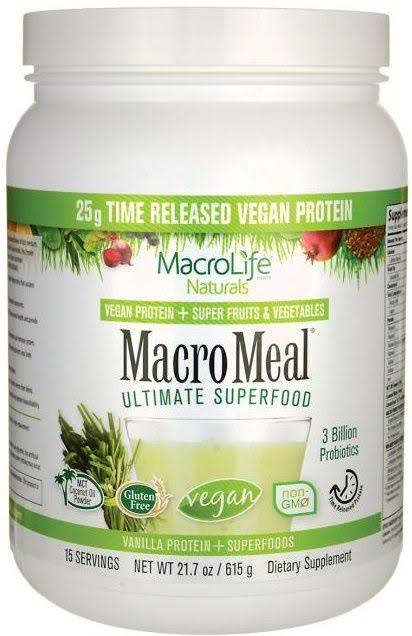 Macrolife Naturals MacroMeal Ultimate Superfood - Vanilla and Superfoods, 21.7oz