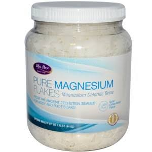 Life-flo Pure Magnesium Flakes Powder - 44oz