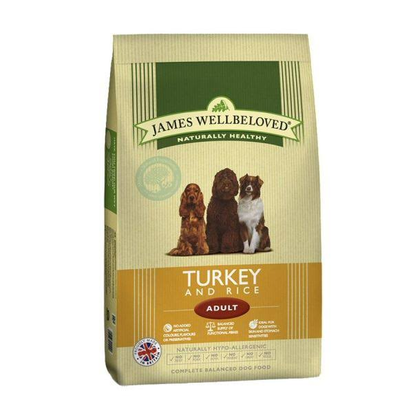 James Wellbeloved Adult Dog Food - Turkey & Rice, 7.5kg