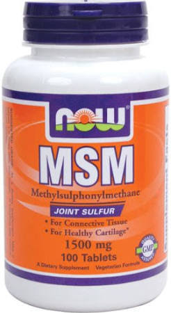 NOW Foods MSM Supplement - 100 Tablets