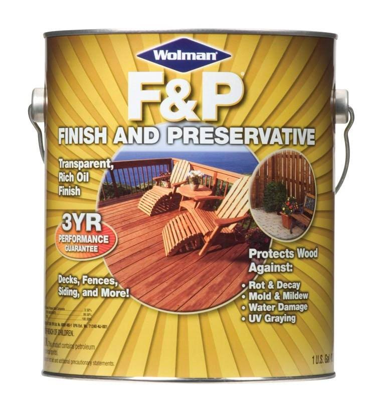 Wolman Wood Finish and Preservative Varnish - Natural, 1gal
