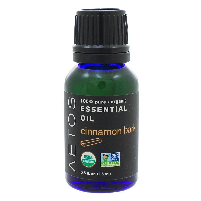 Cinnamon Bark Essential Oil 100% Pure, Organic, Non-GMO Aetos Essential Oils 15 Milliliters