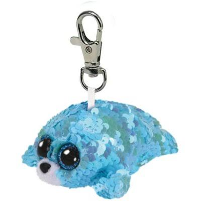 Ty Waves The Seal Aqua Clip