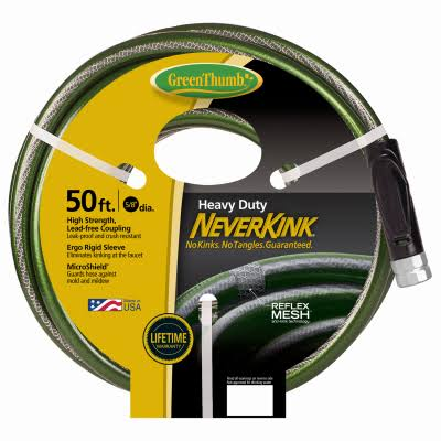 "Green Thumb Never Kink Heavy Duty Garden Hose - 5/8"" X 50'"