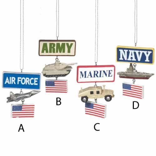 Midwest-CBK Military Vehicle Ornament, Assorted