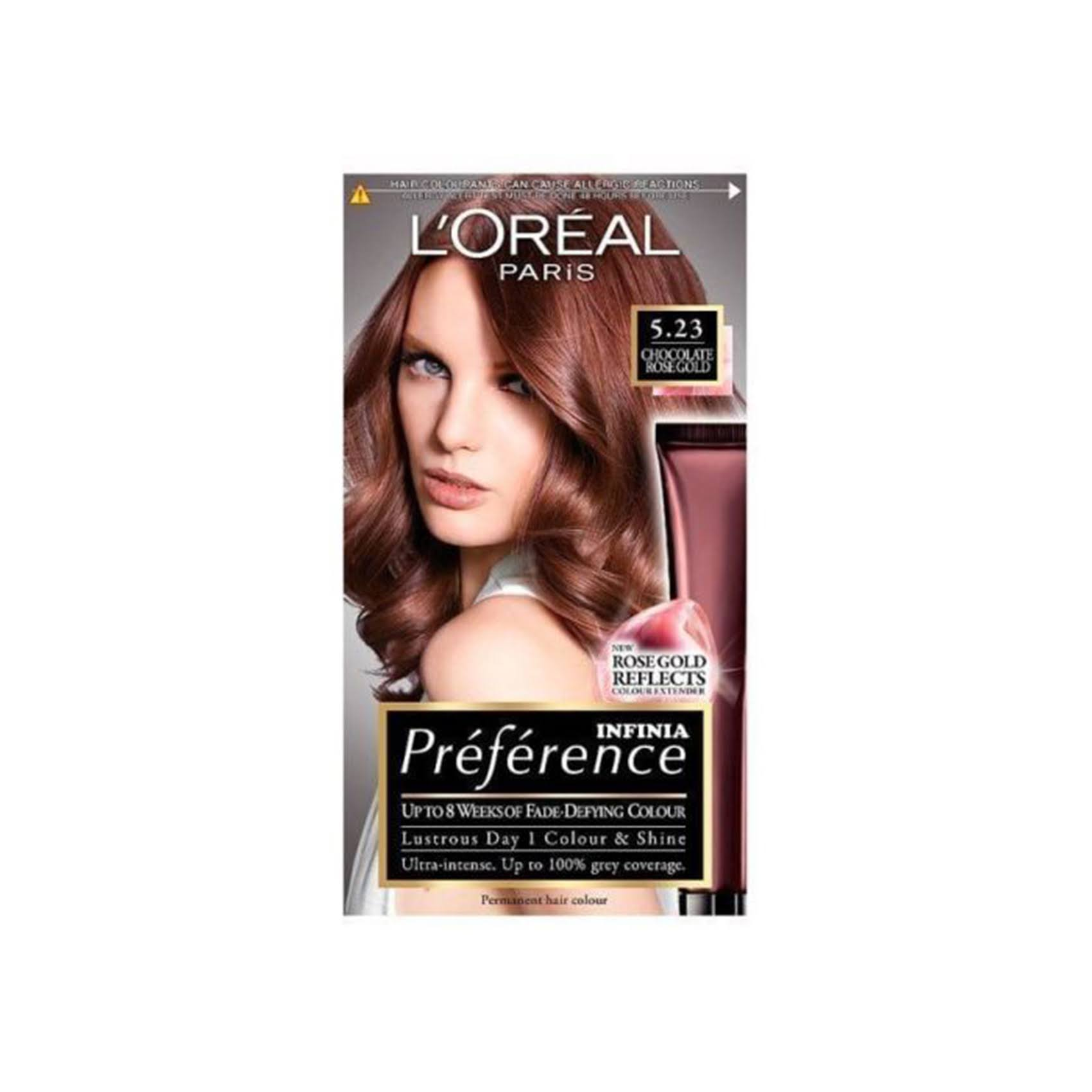 Preference Infinia 5.23 Chocolate Rose Gold Brown Permanent Hair Dye