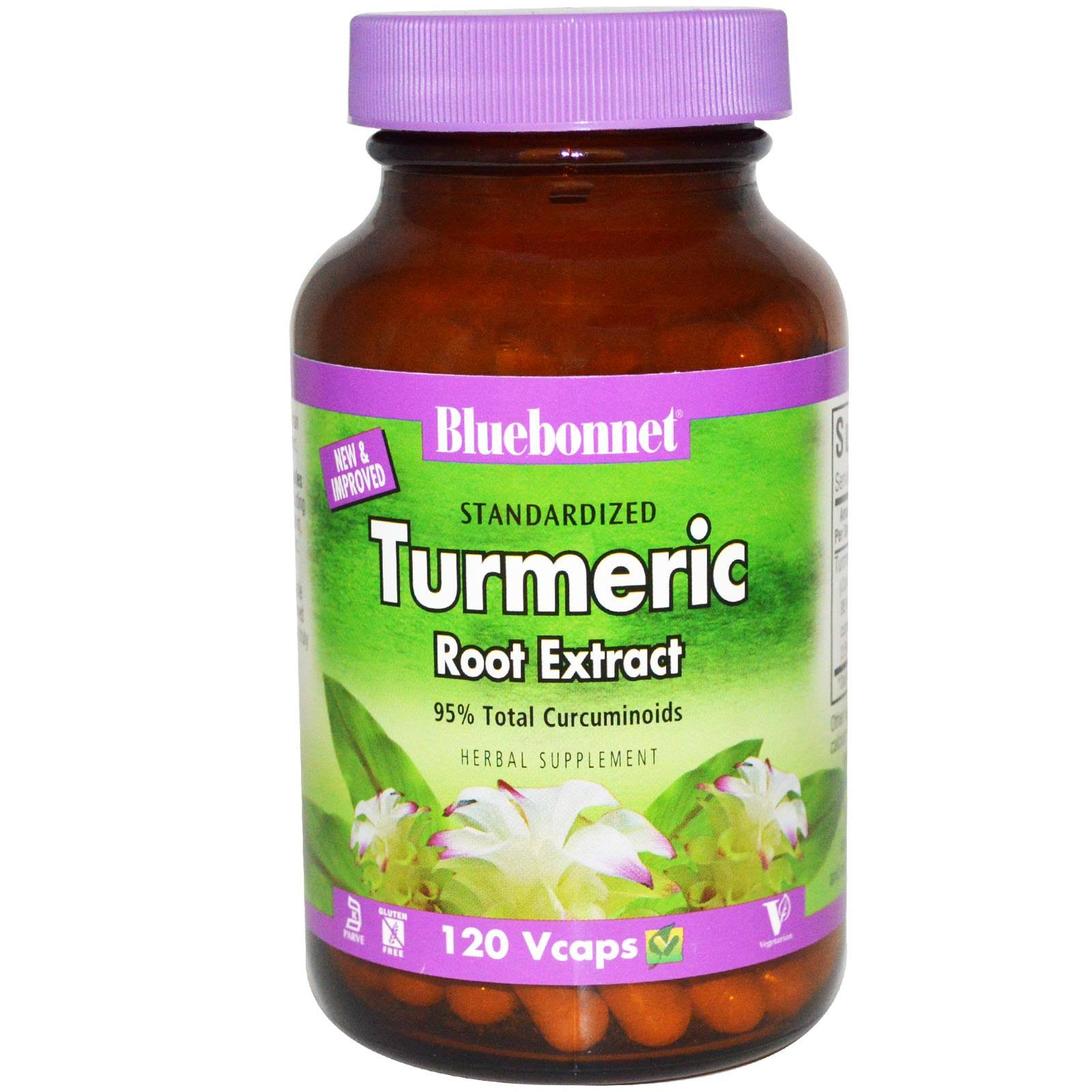 BlueBonnet Turmeric Root Extract Supplement - 120 Vegetarian Capsules