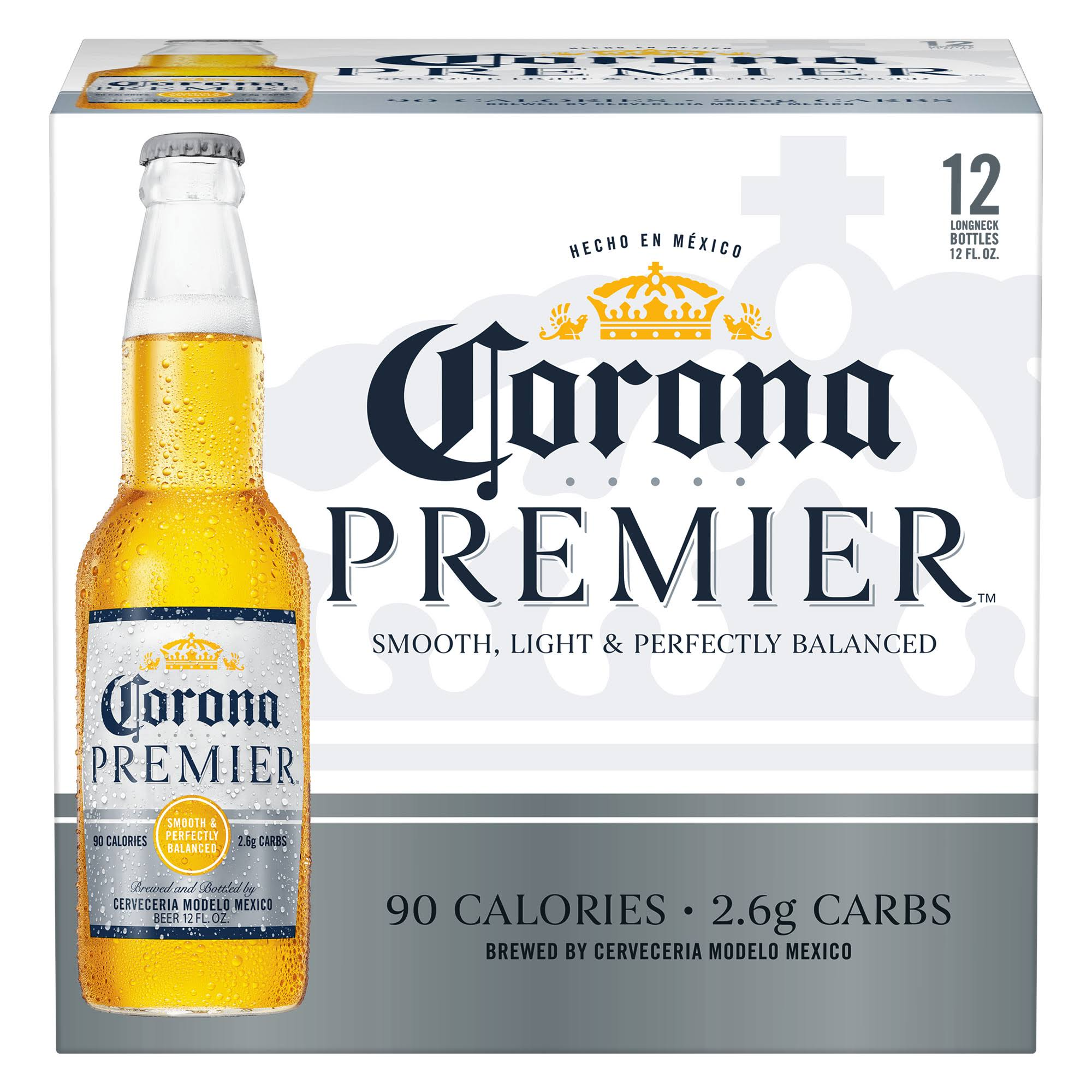 Corona Premier Beer - 12 pack, 12 fl oz bottles