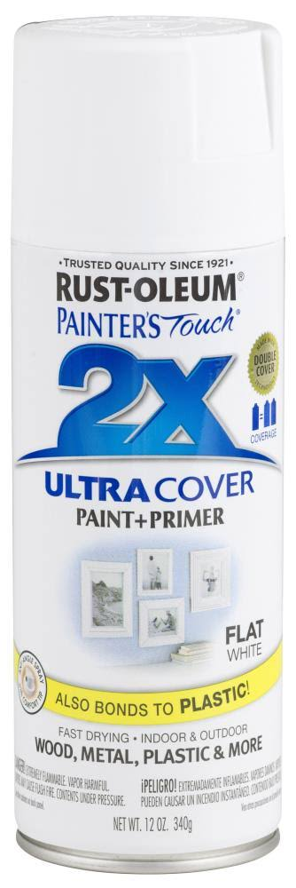 Rust-Oleum 249126 Painter's Touch Multi Purpose Spray Paint - 12oz, Flat White