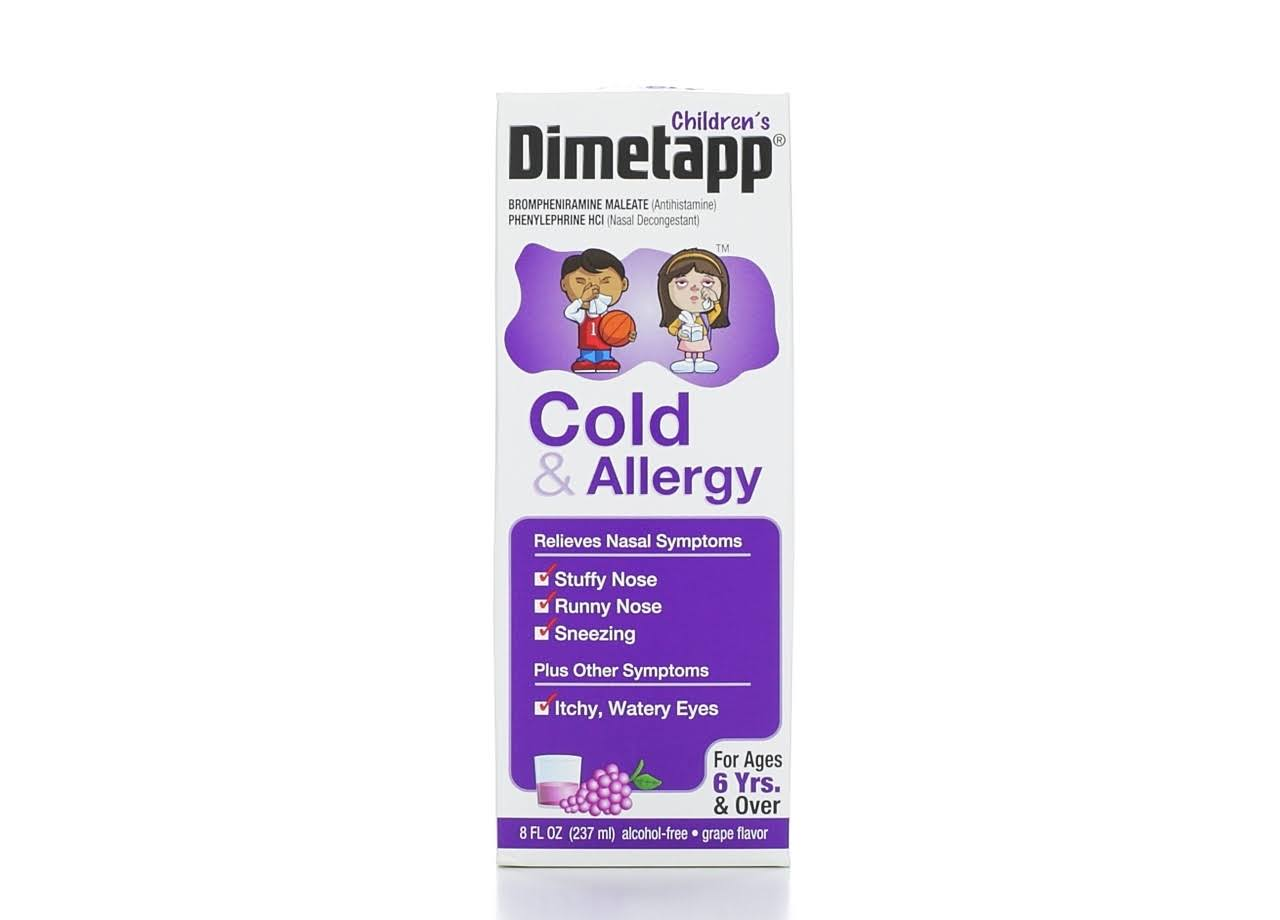 Children's Dimetapp Cold and Allergy Relief - Grape, 8oz