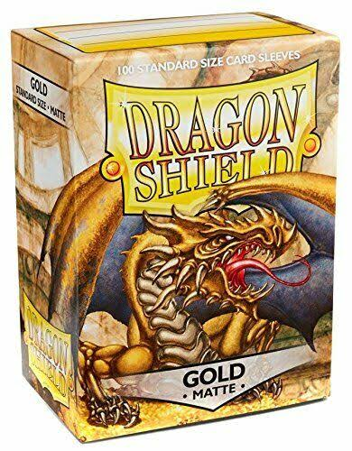 Dragon Shield Sleeves: Matte - Gold (100)