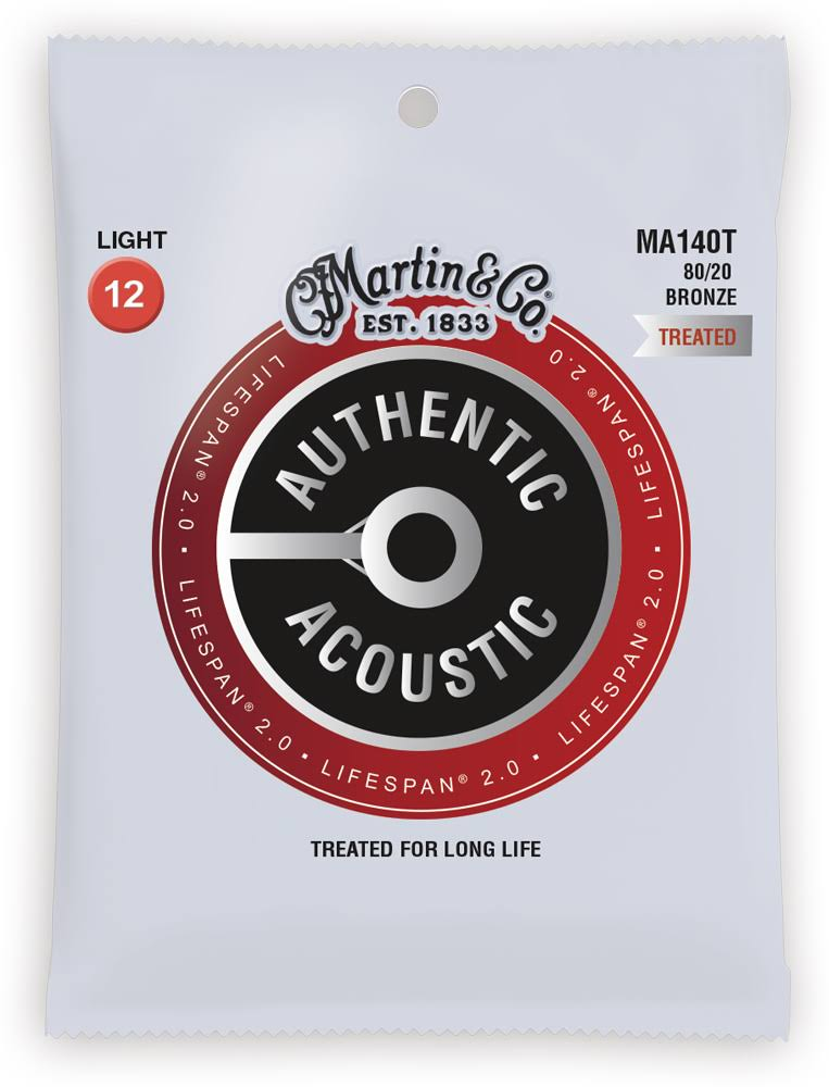 Martin Authentic Lifespan 2.0 Treated Guitar Strings - 80/20 Bronze