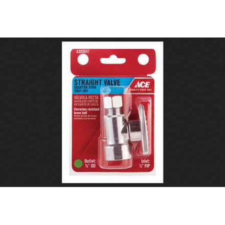 Ace Shut Off Valve - Chrome