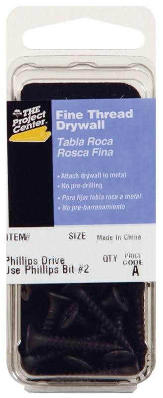 "Fas-Pak 5905 Fine Thread Drywall Screw - with Phillips Drive, 8""x3"""