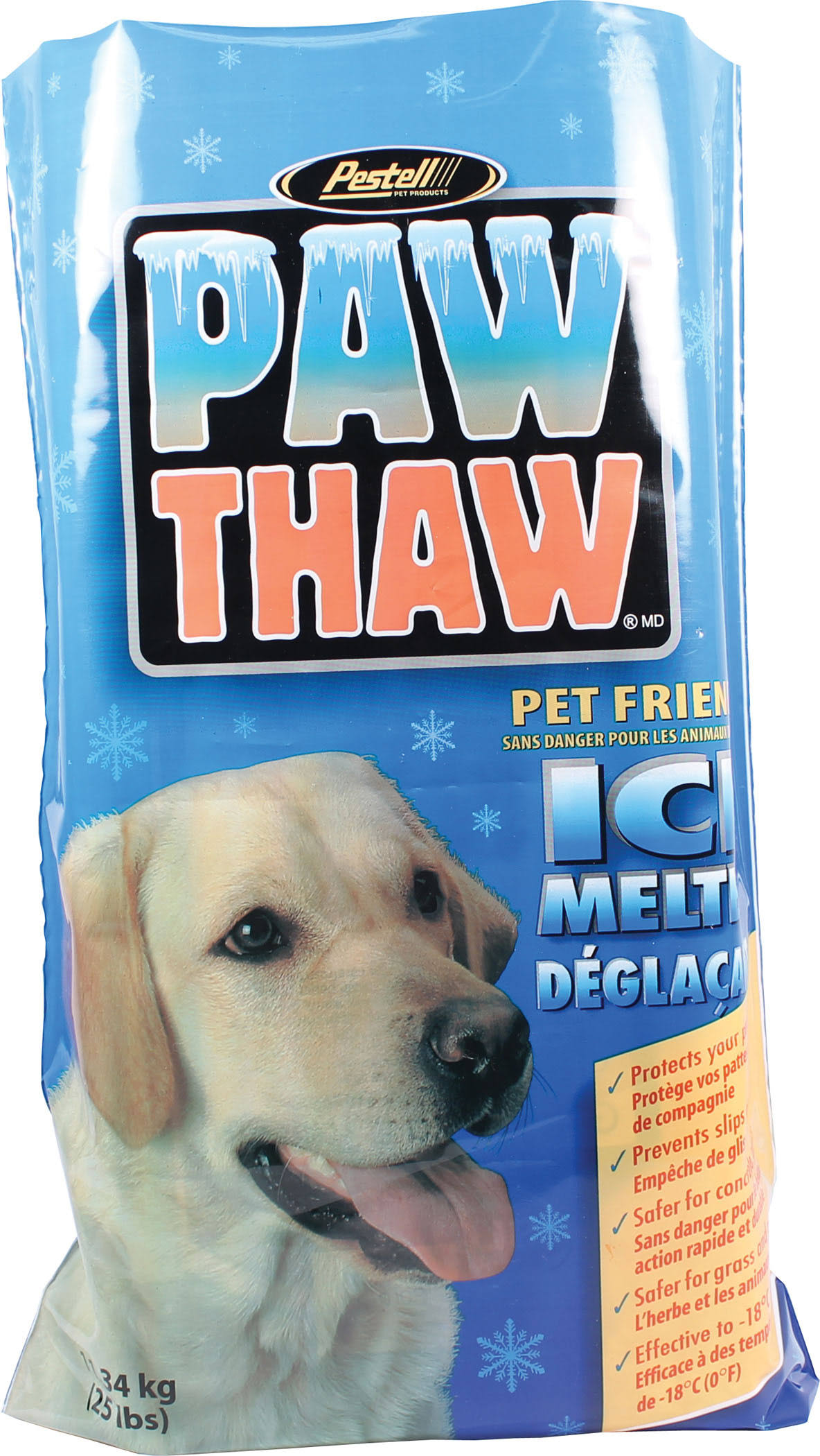 Pestell Paw Thaw Ice Melt For Pets - 25lbs
