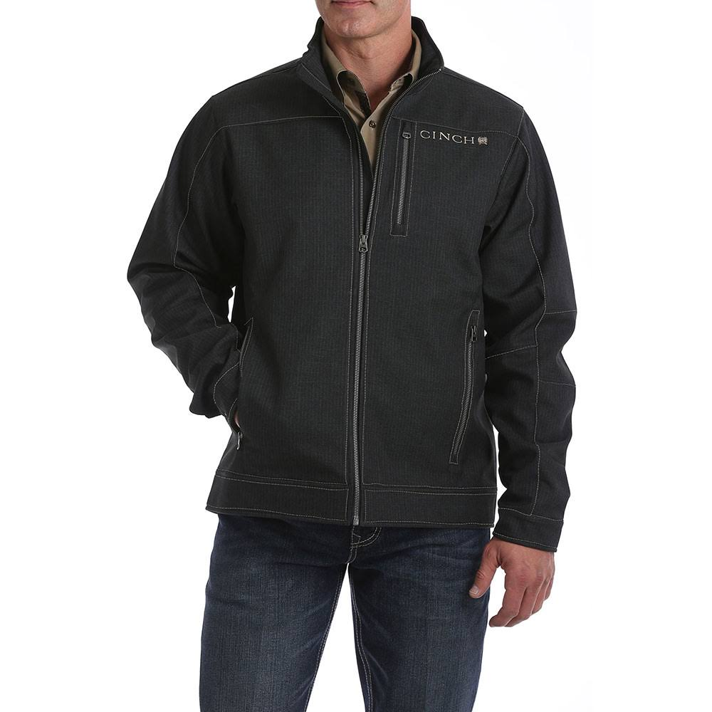 Cinch Men's Textured Charcoal Bonded Jacket